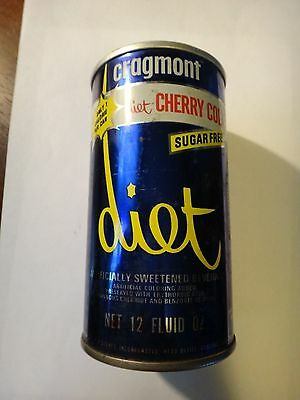Cragmont Diet Cherry Straight Steel Soda Can Cans Bottom Opened