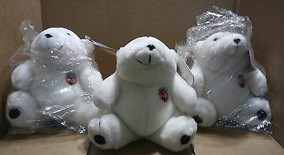 "Lot of 3 Coca Cola, Coke plush polar bears 7"", new, 1993, ""Always Coca Cola"""