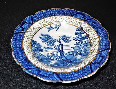Booths Real Old Willow Pattern Teacup Saucer Silicon China Vintage 1906-30