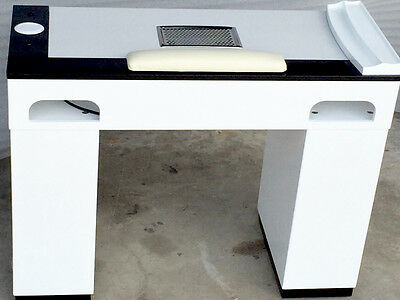 VBSS   with   Marble Top Manicure Table - White/Black reduce price