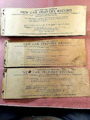 1950-51-52 Kaiser Frazer Henry J Dealership Sales Record Books (3)