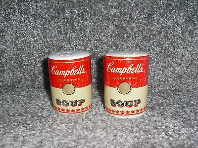 Campbell's Soup Cans Salt And Pepper Pots 2.8'' Tall With Original Stoppers 2009