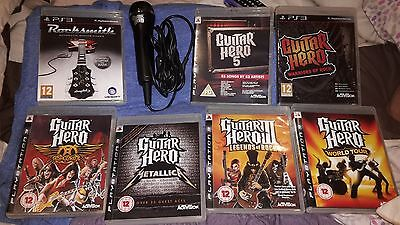 Guitar Hero PS3 Bundle games and microphone
