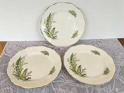 3 Adderley 'Lily of the Valley' 7 7/8 inch Salad Plates (44)