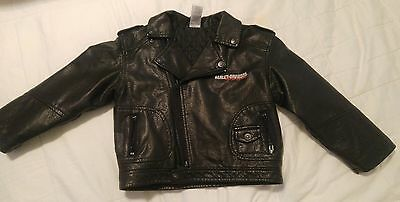 Harley Davidson Toddler Faux Leather Motorcycle Jacket VEUC, 4T