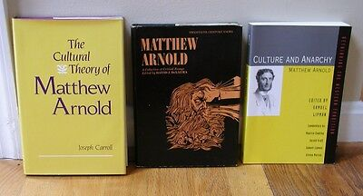 LOT BOOKS on Matthew Arnold poems culture and anarchy criticism philosophy HB