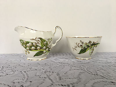 Adderley 'Lily of the Valley' Creamer & Open Sugar Bowl (350)