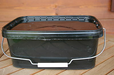10 x 5litre(1 gallon) Rectangular Plastic storage containers/tubs/buckets+lids.