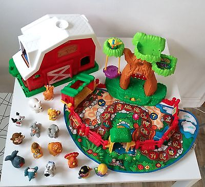 Fisher Price Little People Zoo and Farm animal bundle with figures