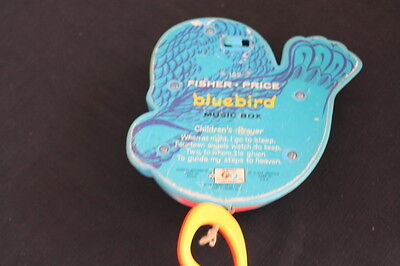 vintage Fisher Price blue bird pull toy