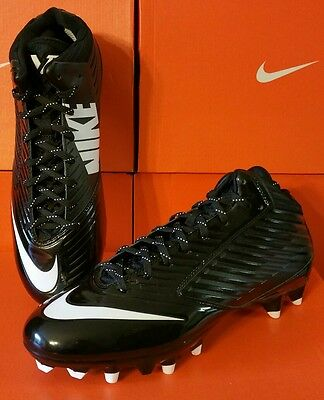New NIKE VAPOR SPEED 3/4 TD FOOTBALL LACROSSE CLEATS BLACK Sizes 10.5
