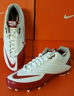 NEW ~ MENS Nike Speed TD Football Cleats RED/WHITE SOCCER Lacrosse~ retail 85.00