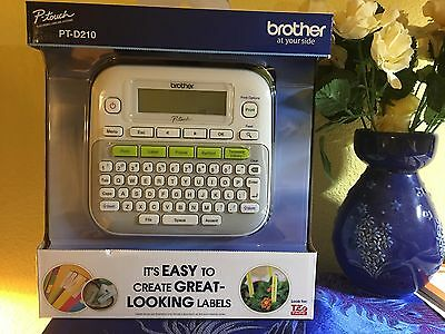 Brand New - Brother P-Touch PT-D210 Label Maker Labeler