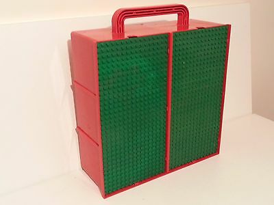 Vintage Lego 2 Bay Storage Carry Case (Red/green)