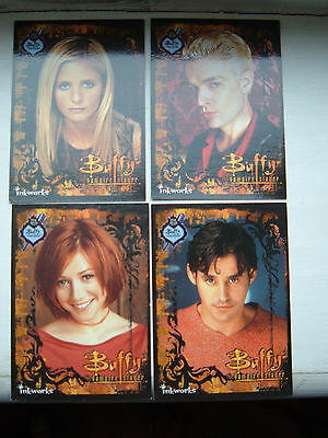 Buffy complete set of interantional comic con 2000 exclusive chase cards all 4