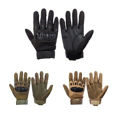Touch Screen Military Tactical Airsoft Hard Knuckle Full Finger Gloves Outdoor