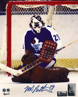 """Mike Palmateer Toronto Maple Leafs Autographed 8"""" x 10"""" Photograph -(belly save)"""
