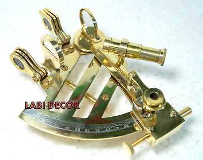 "Nautical Brass Sextant 4"" Vintage Ship Instrument Antique Office Tabletops Decor"