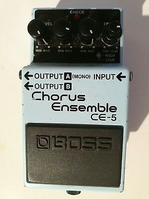 Boss CE-5 Chorus Ensemble Guitar Effects Pedal Stompbox Used Condition