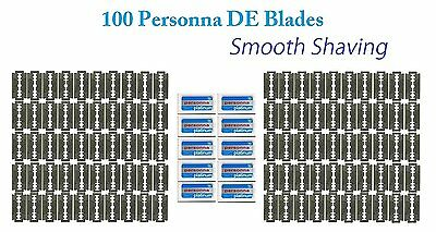 100 Israeli Personna  Razor Blades - Double Edge Blades - Made in Israel