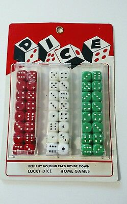 Vintage Dice Store Display Card Red White Green Japan Complete Set Unused NOS