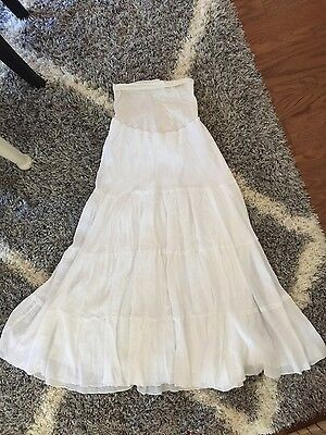 motherhood maternity white maxi skirt, medium, excellent condition