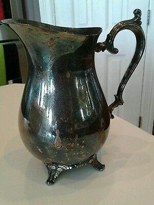 rogers silverplate water pitcher