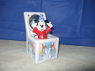 Schmid Disney Sorcerer's Apprentice Music Box Mickey Mouse Fantasia