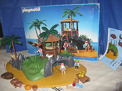 Vintage Playmobil 3799 Pirates Secret Island Complete with Box and Instructions