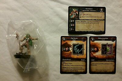 World of Warcraft Miniature Game, Moonshadow figure,Core-C and cards, WoW