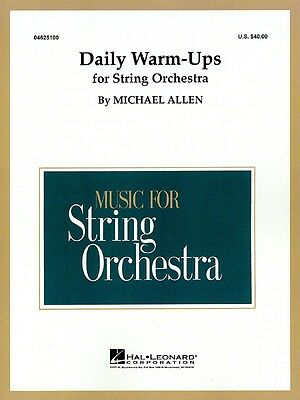 Daily Warm-Ups for String Orchestra Orchestra Warm Ups NEW 004625100
