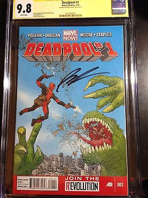 Deadpool #1 9.8 CGC SS (Signed by Rob Liefeld) 2012