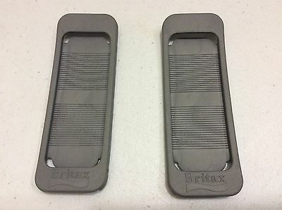 Britax Pair HUGS harness rubber chest pads for Britax Car Seat. Grey