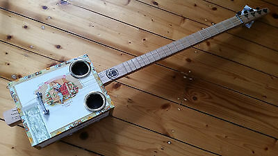 cigar box guitar-4 string - hand crafted by salty dog CBG