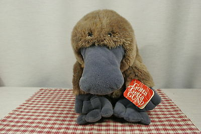 """GUND WEBBER the Duck Billed PLATYPUS, #1277, Large 12"""" w/ hang tag (P18)"""