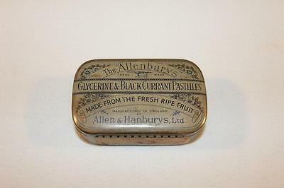Vintage 1930s Tin The Allenburys Glycerine & Blackcurrant Pastilles-BL