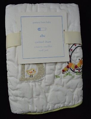 """Pottery Barn Kids Baby Abc Quilted Sham Small Toddler 12X16"""""""