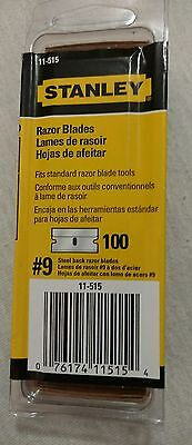 Lots 3-pk of Razor  Stanley 11-515 #9 Blade Steel Back Razor Blade