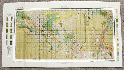 1905 Cooperstown North Dakota Map Railroads Sheyenne River Original Large Color