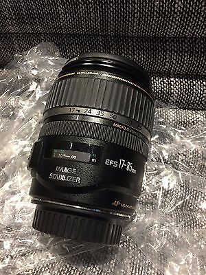 Canon EF-S 17-85mm f/4.0-5.6 IS USM Camera Lens - excellent working condition