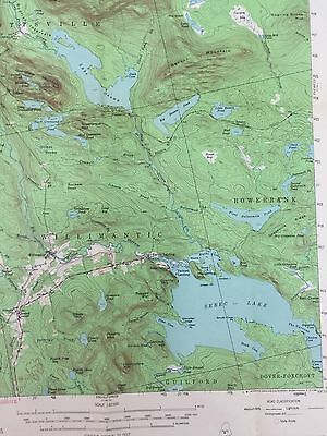 VTG 1950 State Of Maine USGS TOPOGRAPHICAL MAP SEBEC LAKE WILLIMANTIC ME