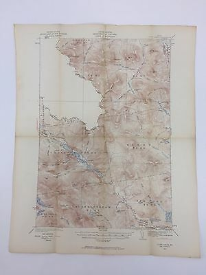 VTG 1932 State Of Maine USGS TOPOGRAPHICAL MAP CHAIN LAKES KIBBY ALDER INDIAN ME