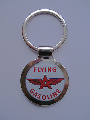 Flying A Gas Key Chain, Flying A Gasoline Logo Keychain, Flying A Gas Keychain