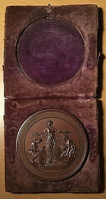 Choice 1876 United States Centennial Medal in Original Case 57mm Bronzed Copper