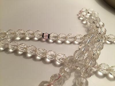 Clear quartz and Rose Quartz Mala Beads