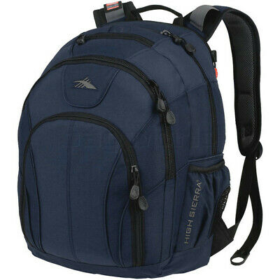 "High Sierra Academy RFID Blocking 15.6"" Laptop Backpack Navy 56787"