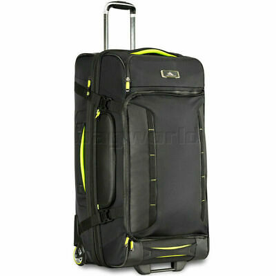 High Sierra AT8 Large 81cm Drop Bottom Wheel Duffel with Backpack Straps Black 6