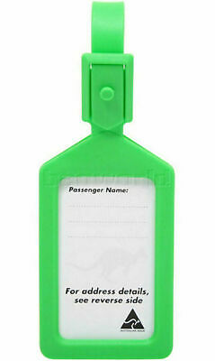 Airport Plastic Luggage Tag Green 25568