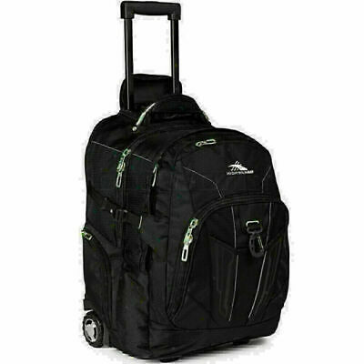 "High Sierra XBT 15.6"" Laptop Wheel Backpack Black 58002"