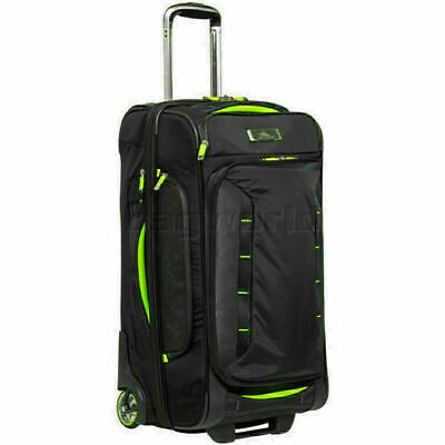 High Sierra AT8 Medium 66cm Drop Bottom Wheel Duffel with Backpack Straps Black